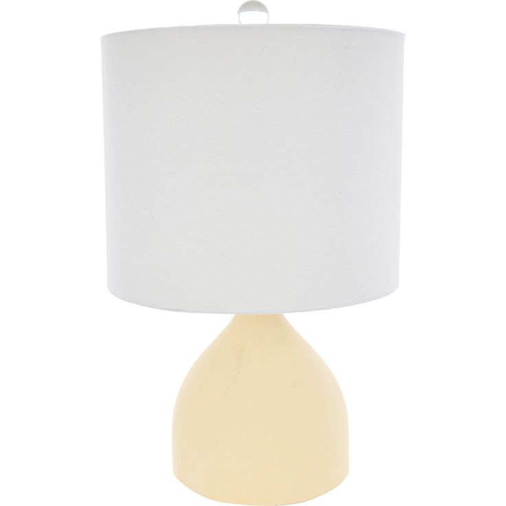 This table lamp features a bulbous base with a soft sand toned finish, plus a natural linen inspired lamp shade.   Don't sacrifice style for function!