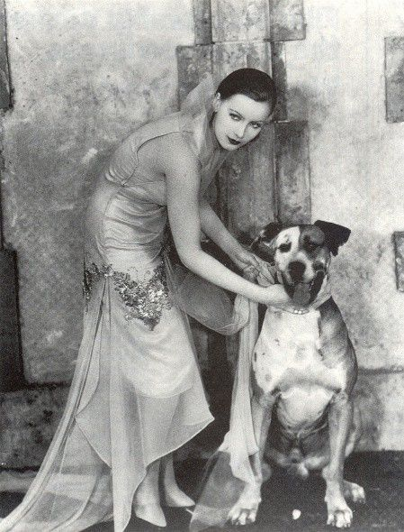 my absolute fav. pic-so happy to see this dog with gg,   Greta Garbo with her dog