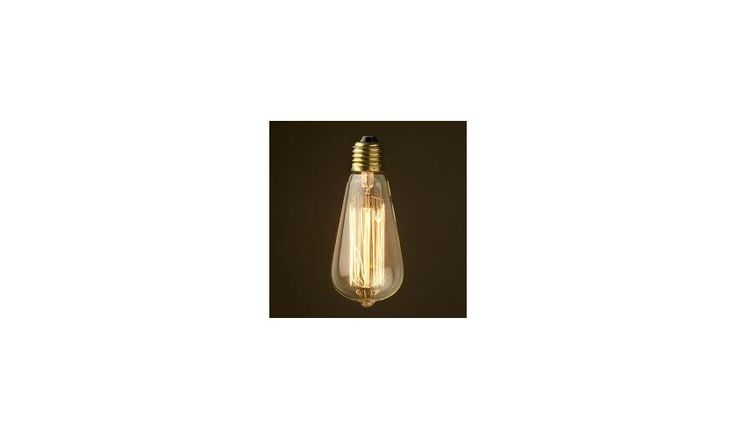 Mr Ralph - Vintage Edison Filament Tear Drop Bulb - 40 watt, Bulbs