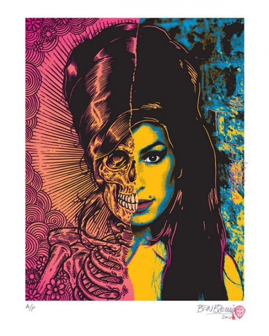dead-undead (by ben brown)Amy Art, Skull, Amywinehouse, Die Young, Seeking Amy, Ben Brown, Amy Winehouse, Benbrown, Amy Wineh Illustration