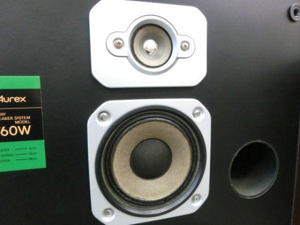 1円~Aurex SS-760W スピーカーシステム ペア オーディオ ⑩_画像2