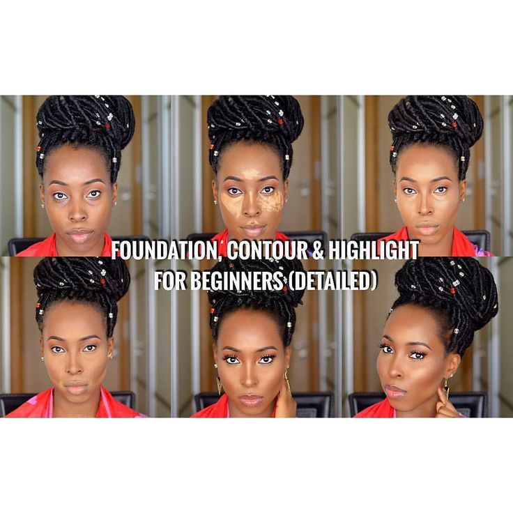 Throwback to this tutorial on how to apply foundation contour and highlight like a professional for beginners. The link is on my bio Missing my faux locs  List  of Products Used  BROWS @AnastasiaBeverlyHills Dipbrow pomade - Ebony @AnastasiaBeverlyHills brow wiz - Ebony @AnastasiaBeverlyHills clear brow gel  EYES  @Maccosmetics Eyeshadow - Brown Script @AnastasiaBeverlyHills powder contour kit - medium to tan @Inglot Gel liner - Black 77 @Maccosmetics false lashes extreme black mascara…