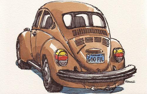 Car Drawings by France Belleville-Van Stone