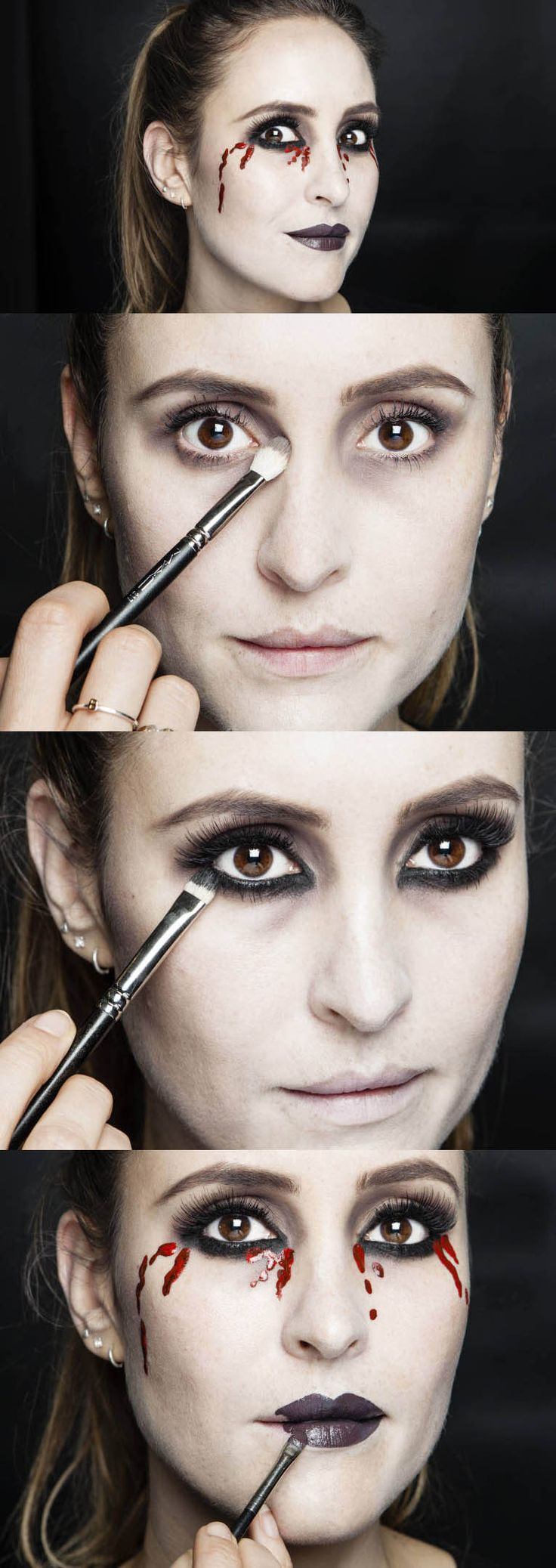 In this step-by-step makeup tutorial of a simple but oh-so effective Halloween look, Cosmo's Online Beauty Editor Bridget shows you (with the help of magic MAC Senior Artist Debbie Finnegan) how to create fake blood tears using makeup. Follow the tips to nail the look yourself for Fright Night. Happy Halloween!