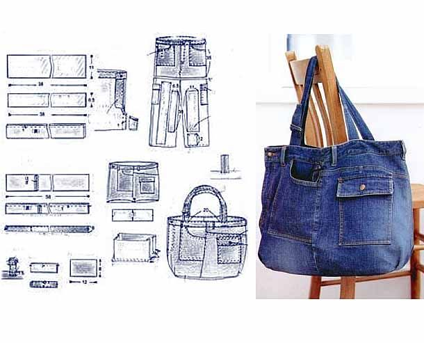 recycled jeans bags patterns                                                                                                                                                     Más
