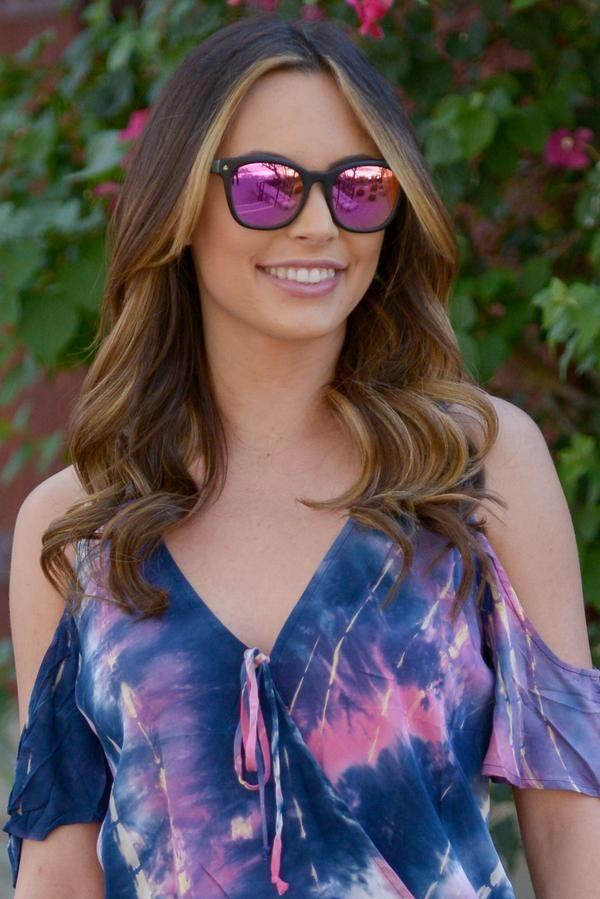 dbe3653921ee DIFF Eyewear Ryder Sunglasses - Matte Black Pink