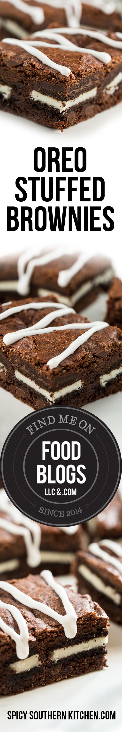 Oreo Stuffed Brownies @foodblogs / FoodBlogs.com #brownies