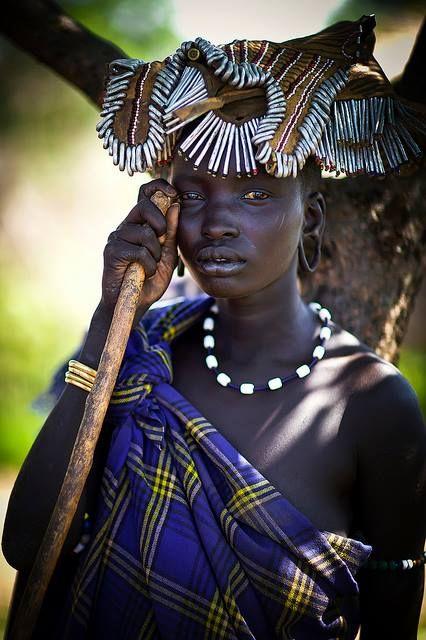 Mursi woman - Ethiopia © Steven Goethals