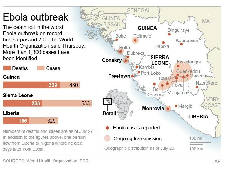 Best EBOLA Images On Pinterest Sierra Leone Health And - Ebola us map