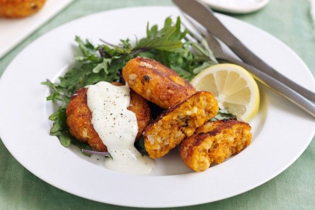 The whole family will love these vegetarian pumpkin, sage and couscous fritters.