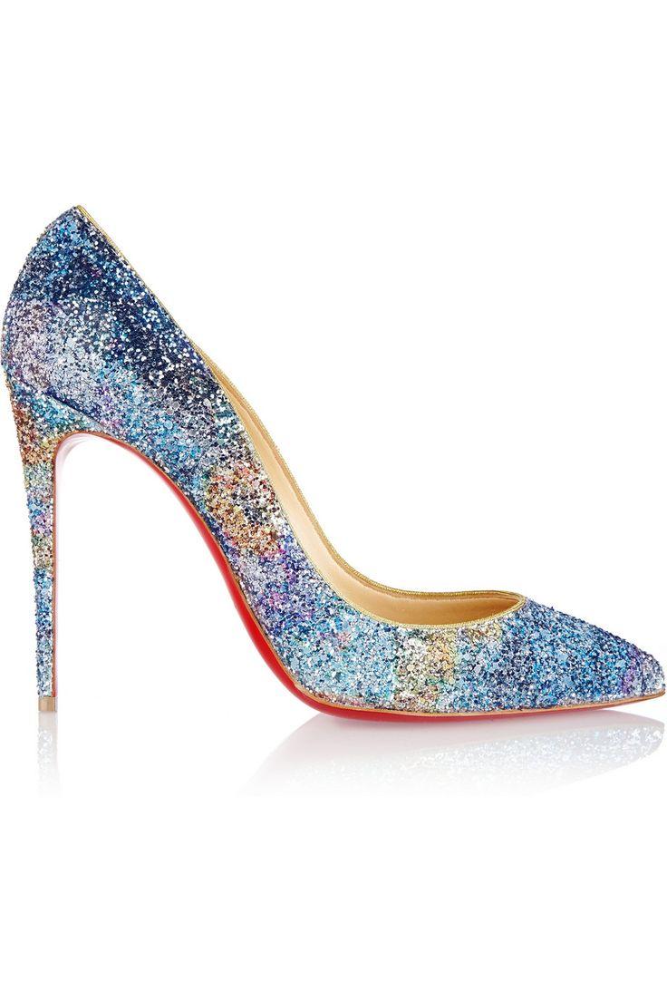 Christian Louboutin Pigalle Follies 100mm Horizon Glitter | shoes ...