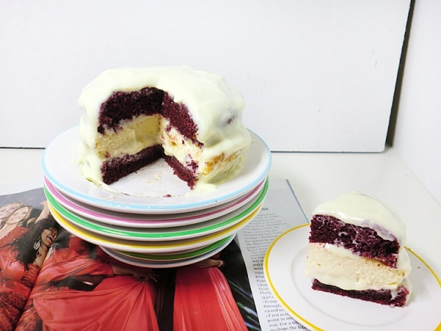 RED VELVET CHEESECAKE FOR 2 (REDUCED SUGAR &FAT)