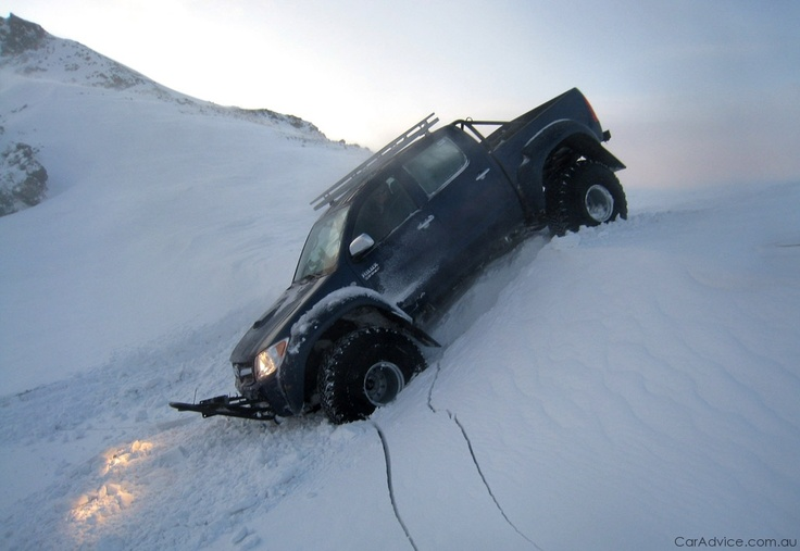 Toyota Hilux (Tacoma) specially modified for snow