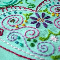Learn to embroider with scrap fabric, embroidery floss and these links to stitches and free patterns! #craftgawker