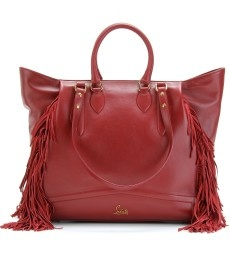 Christian Louboutin red fringe tote. Want!!