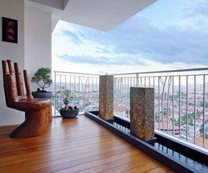 Condo balcony condos and singapore on pinterest for Condo balcony design