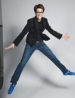 """Kate Woolfe defines the """"Lesbian Look"""" as """"short hair, funky glasses, maybe a little leather"""" (87) & claims that """"it has less to do with one's sexual preferences and more to do with a rejection of our culture's values about women"""" (90). Out MSNBC anchor Rachel Maddow exemplifies this  look & in the linked interview with Katie Couric discuses the ways in which her look differs from what she calls the """"pretty-girl-on-cable"""" stereotype."""