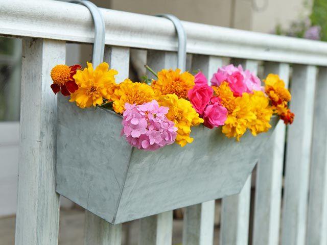 Galvanized Herb Planter For Balcony Railings