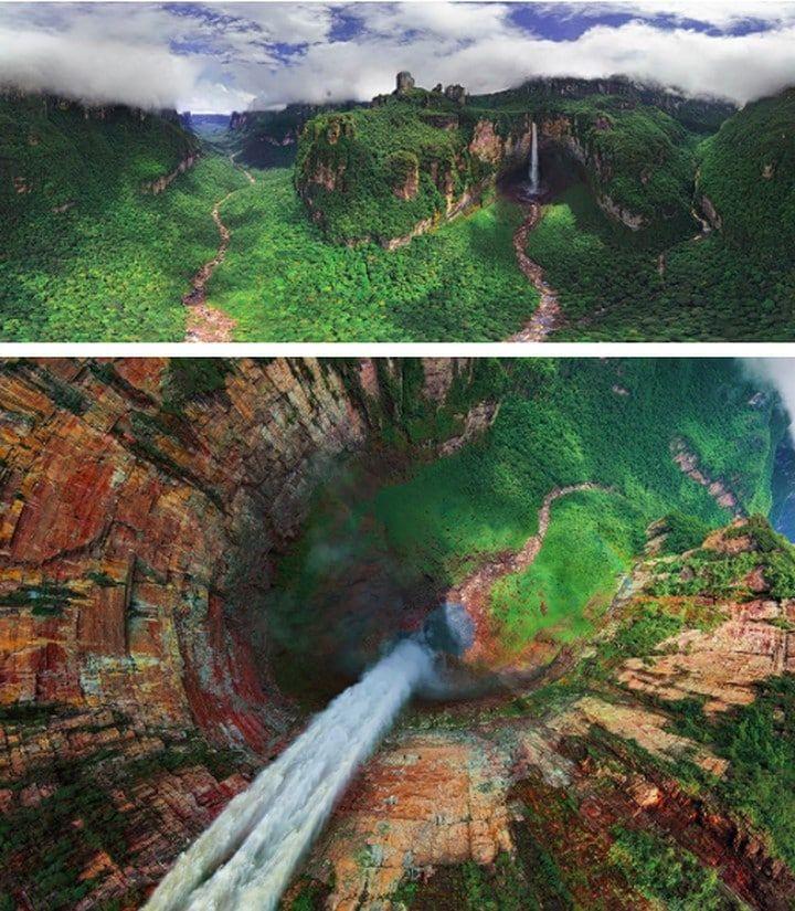 Le saut de l'Ange connu sous Kerepakupai Vena au Venezuela