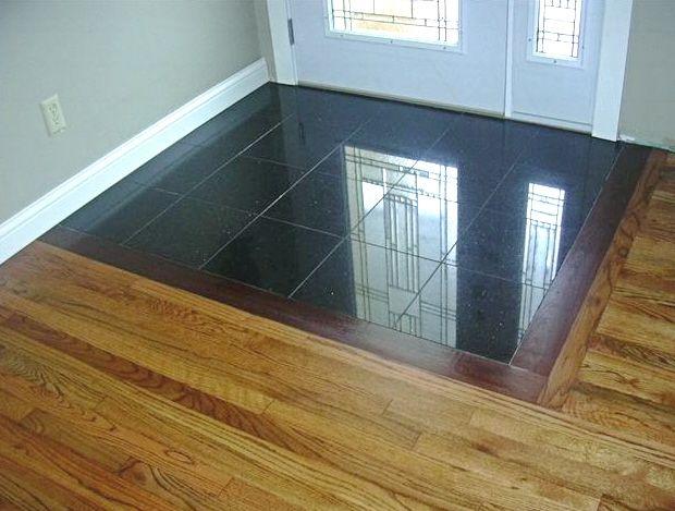 install tile over hardwood how
