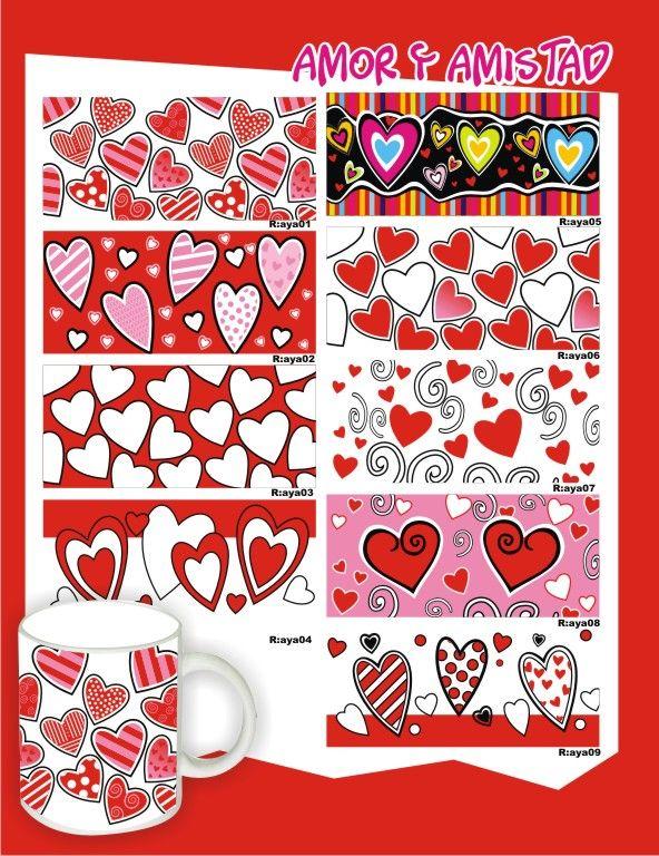 Mugs estampados de Amor y Amistad. #DecoracionFiestasTematicasCali #DetallesAmorYAmistadMedellin