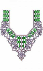 Arabian Boat Neck Embroidery Design