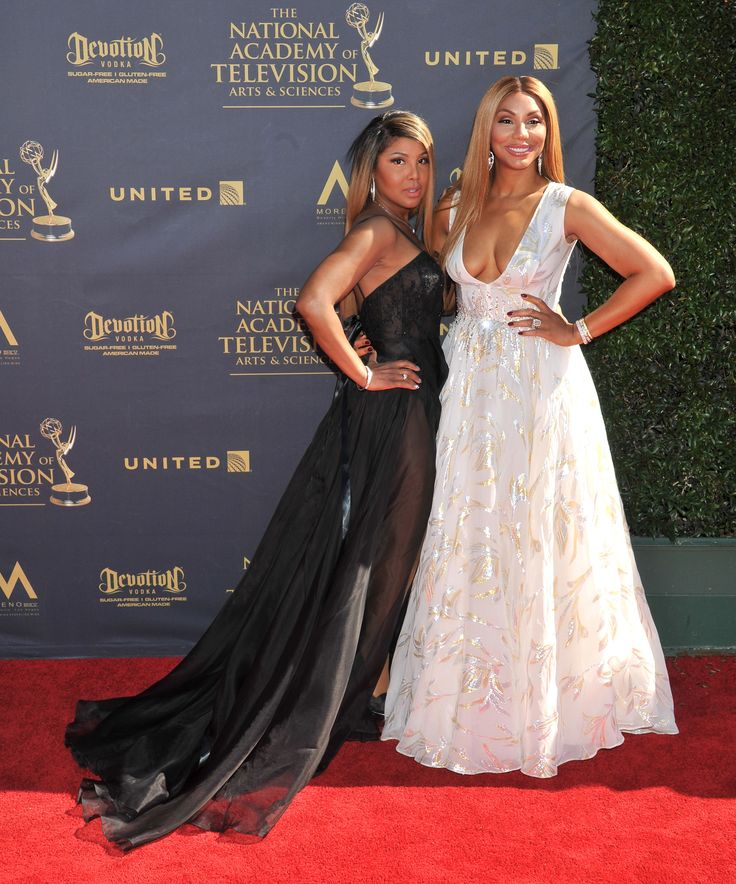 April 30, 2017 - The 44th Annual Daytime Emmy Awards - Tamar Braxton and Toni Braxton arrive at the 44th Annual Daytime Emmy Awards at Pasadena Civic Auditorium on April 30, 2017 in Pasadena, California.  (Photo by Gregg DeGuire/WireImage)