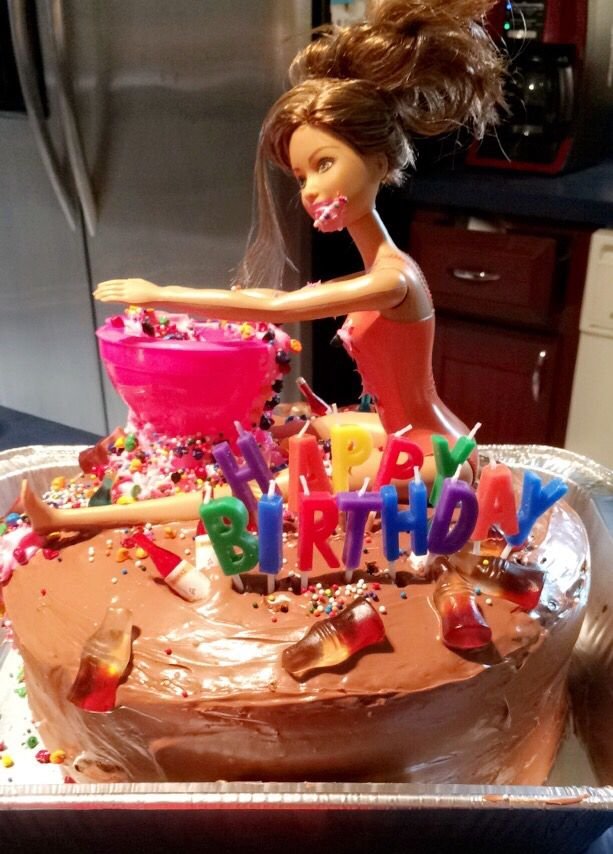 17 Best Ideas About Drunk Barbie Cake On Pinterest 21st