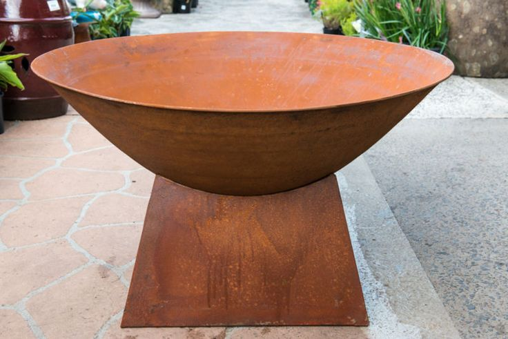 Steel Round Outdoor Garden Wood Fire Pit Heating Flame Firebox Bowl Pit & Stand