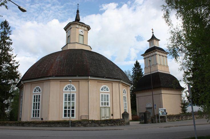 Round church Vimpeli. South Ostrobothnia province of Western Finland. - Etelä-Pohjanmaa, Vimpelin kirkko.