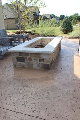 Image Result For Rectangle Fire Pit Ideas