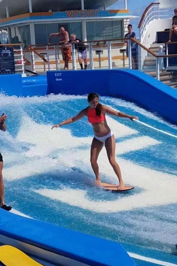 """""""My daughter, Rachel, was a natural on the Flowrider!""""- Kim Miller"""