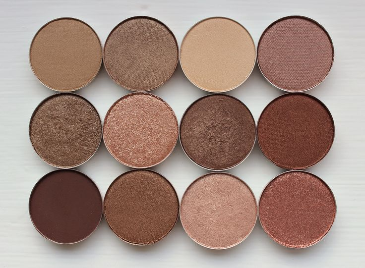 MAC eyeshadow swatches - Soba / Woodwinked / Ricepaper / Sable / Tempting / Honeylust / Mulch / Antiqued / Embark / Bronze / All That Glitters / Mythology