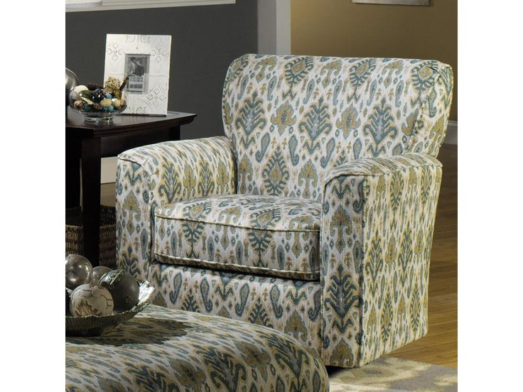 88799 Craftmaster Accent Chairs 068710 Contemporary Upholstered Swivel Chair With Flared Arms And Welt