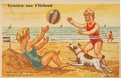 Vlieland - Seaside Postcards - 1960's (Dirk Bruin) Tags: seaside vlieland postcard saucy ansicht