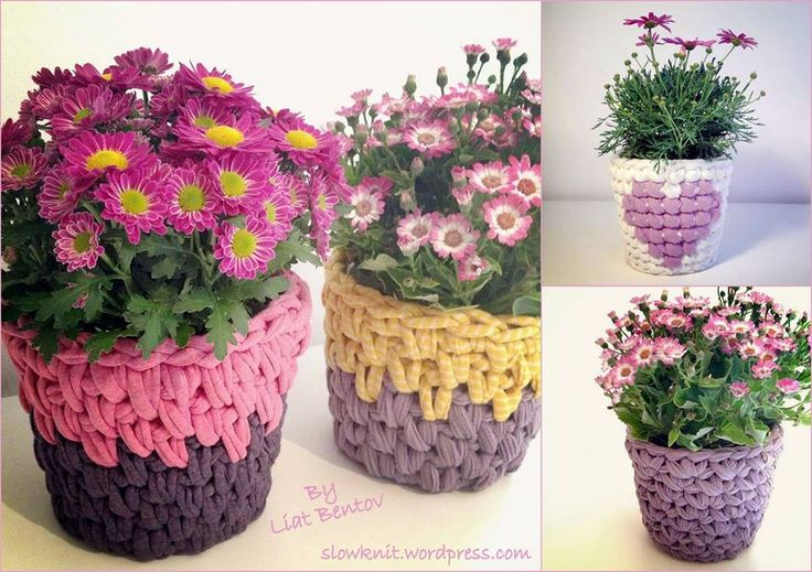 Baskets or Flower Pot Covers....same idea