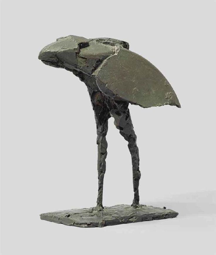 Dame Elisabeth Frink, R.A. (1930-1993) Small Bird I signed and numbered 'Frink 1/9' (on the base) bronze with a grey/black patina 12 in. (30.5 cm.) high Conceived in 1961.