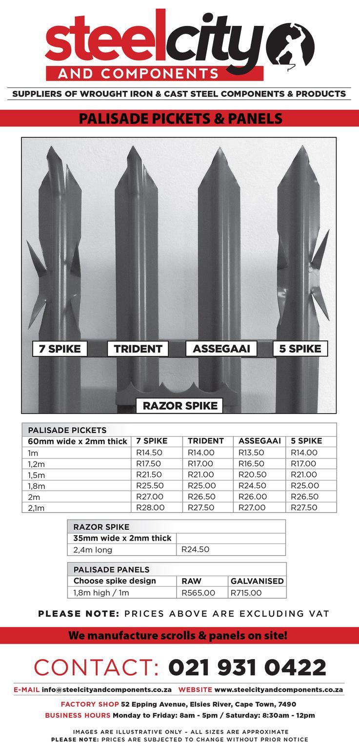 Palisade Pickets, Panels & Razor Spike