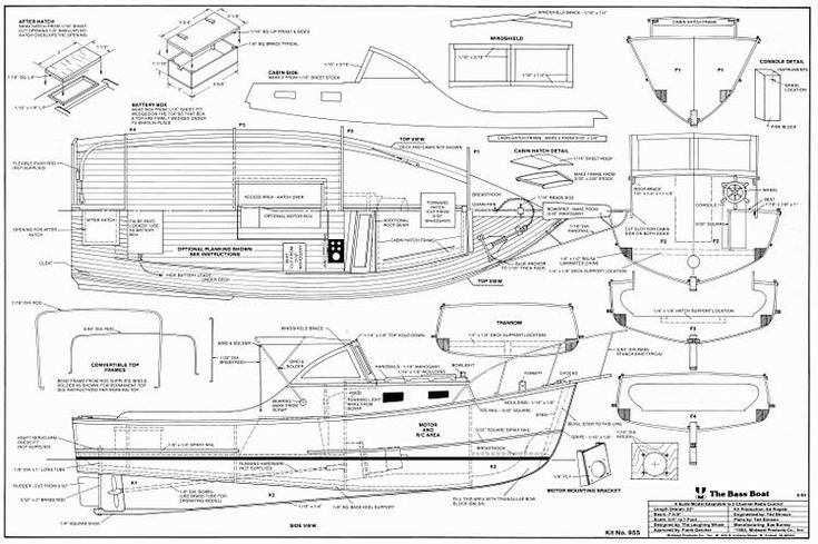 342 best embarcaciones images on pinterest boat building for Bass boat plans