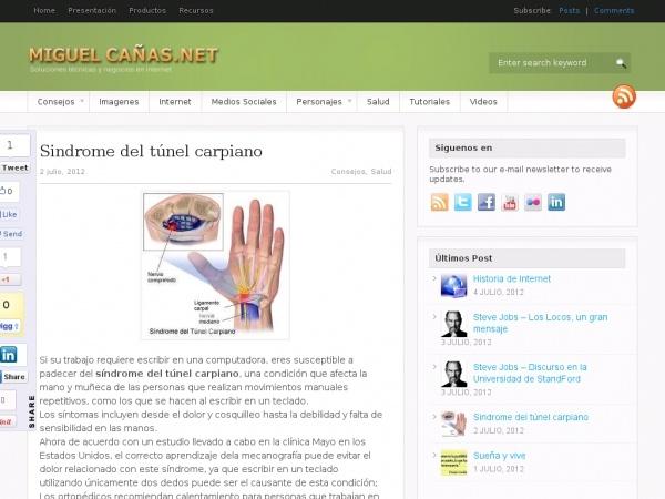 ¿Como afecta tu salud la mala posición de tus manos al usar la computadora? MiguelCanas.Net