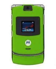 Motorola RAZR V3 in GREEN Sim Free UNLOCKED Mobile Phone Boxed with Accessories by Motorola