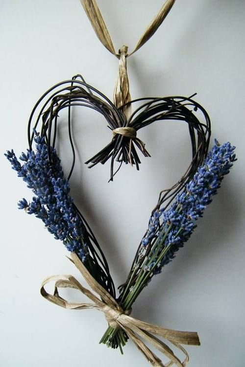 Lavender heart: