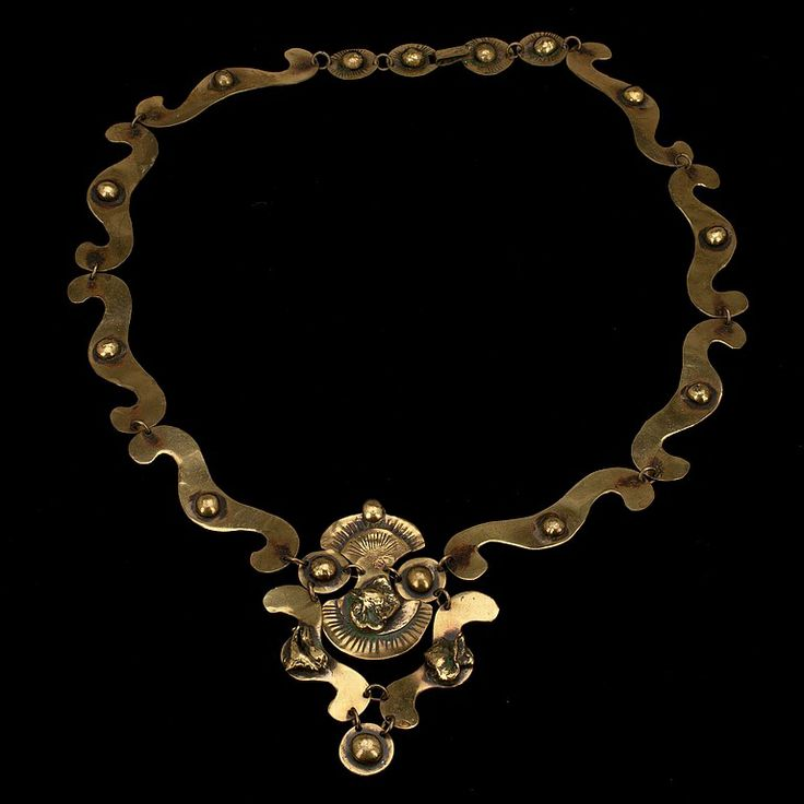 Seppo Tamminen, vintage brass necklace, 1960's.   BukowskisMarket.com