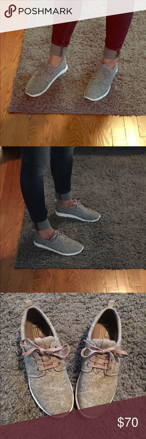 Women's Tom Del Ray Shoes Only wore one time. LOVE these, but they are too tight. Bought from Journeys for $80. Size 8.5 but would fit best for someone who is a 7.5 or 8. TOMS Shoes Athletic Shoes