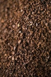 How to use coffee grounds and egg shells in the garden as fertilizer.