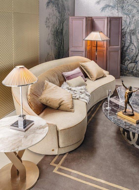 Gold sofa, so luxury