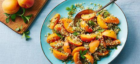 Fresh Apricot, Jalapeno, Mint Quinoa Salad