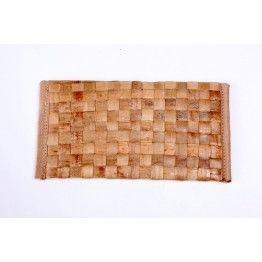 Beige Cross Stitch Cane Wallet