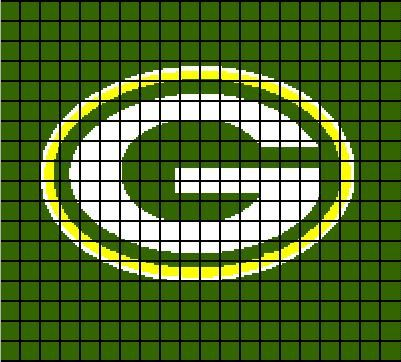 Hey, I found this really awesome Etsy listing at https://www.etsy.com/listing/241689000/green-bay-packers-crochet-afghan-blanket