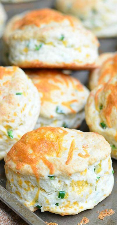 Recipe; Jalapeño Cheddar Buttermilk Biscuits ~ soft and fluffy with a great cheesy flavor and a zesty bite from jalapeno peppers.